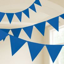 Royal Blue Plastic Pennant Banner